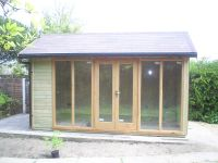 4.4m wide x 2.4m deep Contemporary Office with a pitched roof.