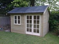 12 x 8 Office with Cream 8 pane double doors and a standard window.