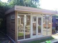 3.8m x 2.4m Contemporary Design clad in cedar.