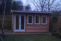 4m x 3m Garden Office clad in Cedar - with factory finished doors and windows. This building is 2.5m high.