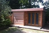 Cedar Clad Insulated with Electrical Pack and Tri Fold Doors