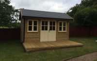 14 x 8 Traditional Office with a Tapco Slate Roof