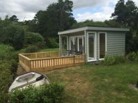 4m x 4m Office with Grey Green Cedral Weatherboard.