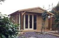 Traditional Style Garden Office in Feather Edge Cladding