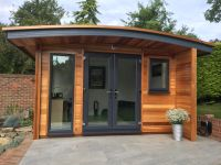 Curved Roof Office with u-PVC doors & windows