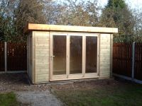 Contemporary Office 3.8m x 2.4m with a tri-folding door.