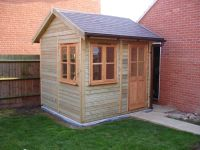 8 x 8 Traditional Garden Office (with pitched roof).