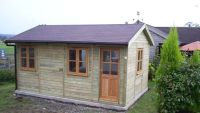 20 x 12 Traditional Garden Office. This building included a partition.