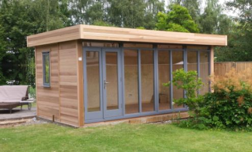 Garden offices and insulated garden rooms manufacturer for Cedar garden office